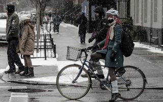 Зимняя езда на велосипеде