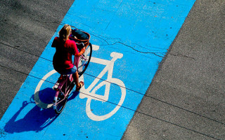 Выделенная полоса для велосипедистов