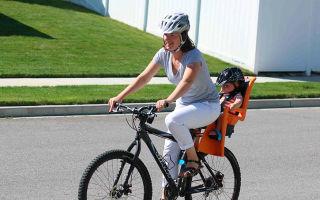 Детское сиденье на раму велосипеда — виды, особенности, отзывы
