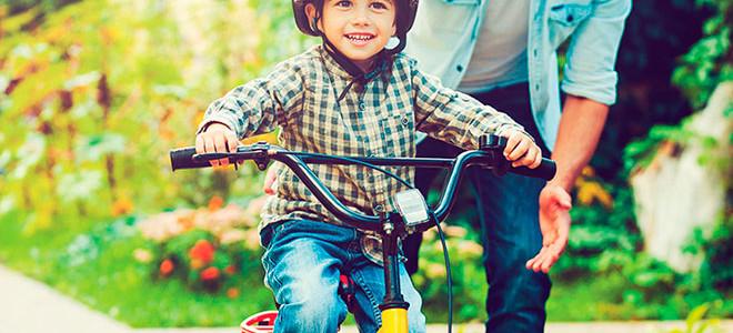Способы научить ребенка ездить на велосипеде