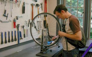 Как выровнять восьмерку на велосипеде?