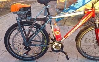 Велосипед с двигателем от бензопилы своими руками