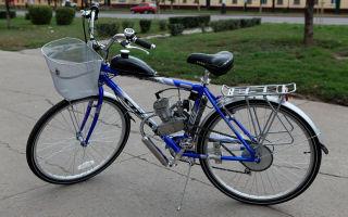 Бензиновый двигатель на велосипед — виды, особенности, установка