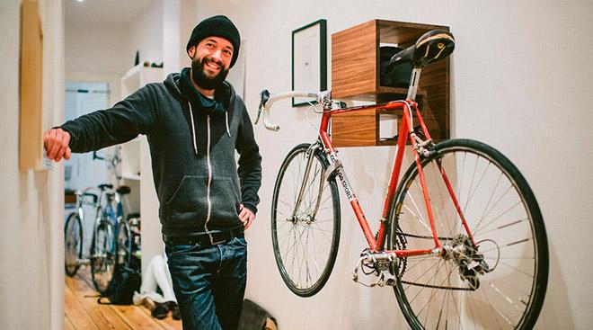 креплений велосипеда к стене