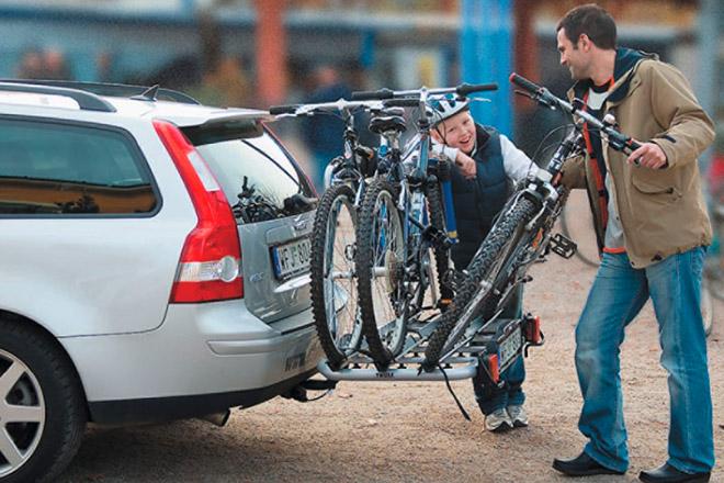 Правила перевозки велосипедов на фаркопе