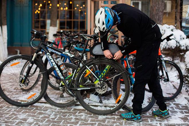 Особенности зимней езды на велосипеде
