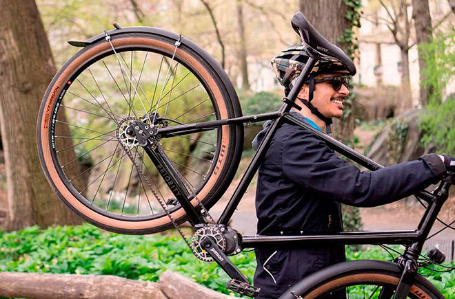 Велосипед с ременной передачей
