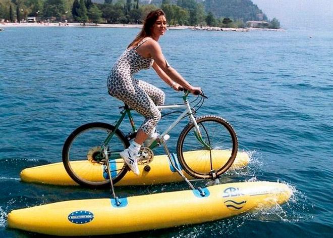Как сделать катамаран из велосипеда