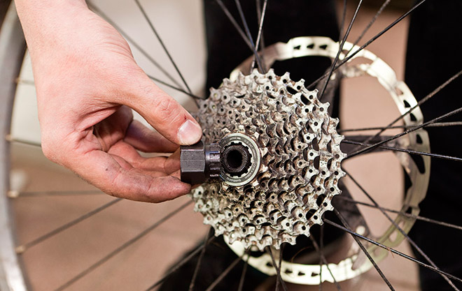Замена звезд на велосипеде