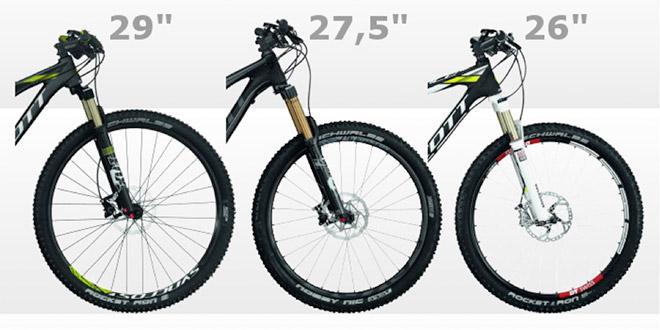 Сравнение колес по размеру