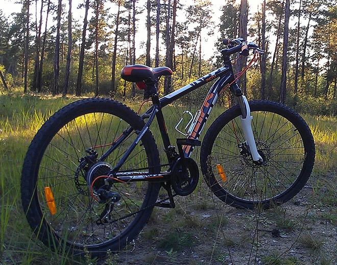 Велосипед в лесу - Indy Disc Stark