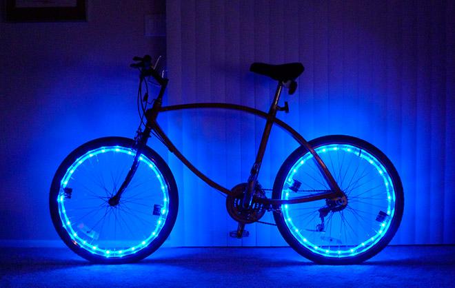 Подсветка на велосипеде