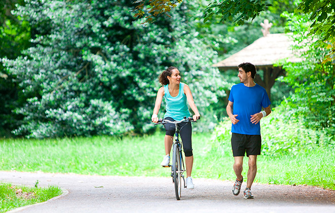 Отличие езды на велосипеде от бега